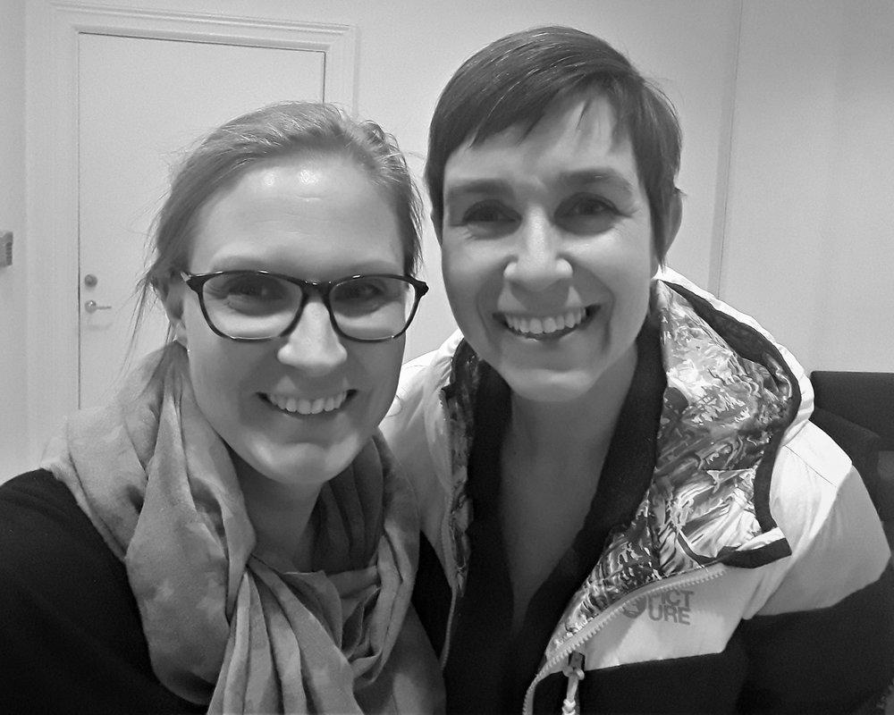 Jag och Malin Löfstedt