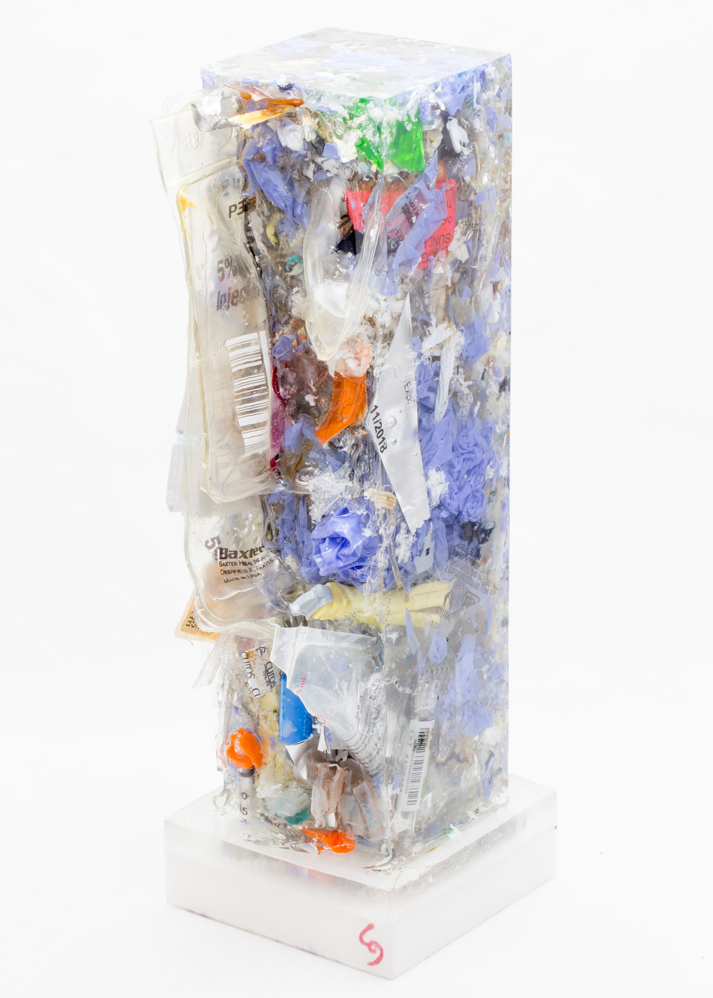 Generation 3 (Nurse) - Generation 3 Standardized Trash Sculpture Nurse series. Trash is straight from the ward. This is the weight of saving lives.