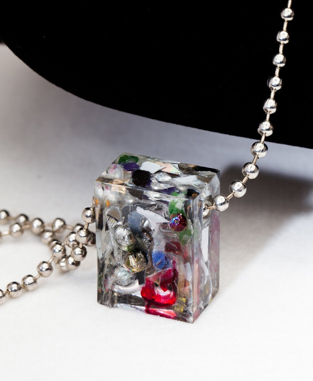 """ART IN THE BOX"" Group Show in BKLN Nov30.2018-Jan06.2019 - Featuring ""Standardized Trash Pendants (v4.2)"".Pendants will be available for purchase at About Glamour + AG Gallery, NY.address: 310 Grand Street Brooklyn, NY 11211Group Show ""Art In The Box"" opens Nov30 - Jan06.Pendants and Lamp will be available for purchase.info: http://www.aboutglamour.net(email me for reservation + commission: osawacharles@mac.com )"