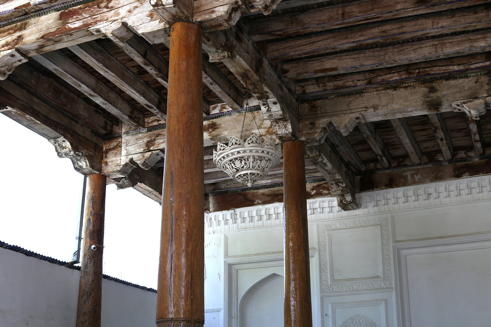 Wooden columns in Bukhara