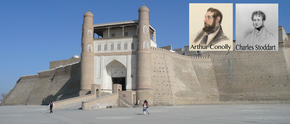 - The Ark of Bukhara where both men were executed on charges of spying for the British Empire on 24 June 1842.