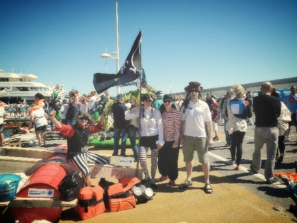 2012 Antibes raft race team Ship Happens