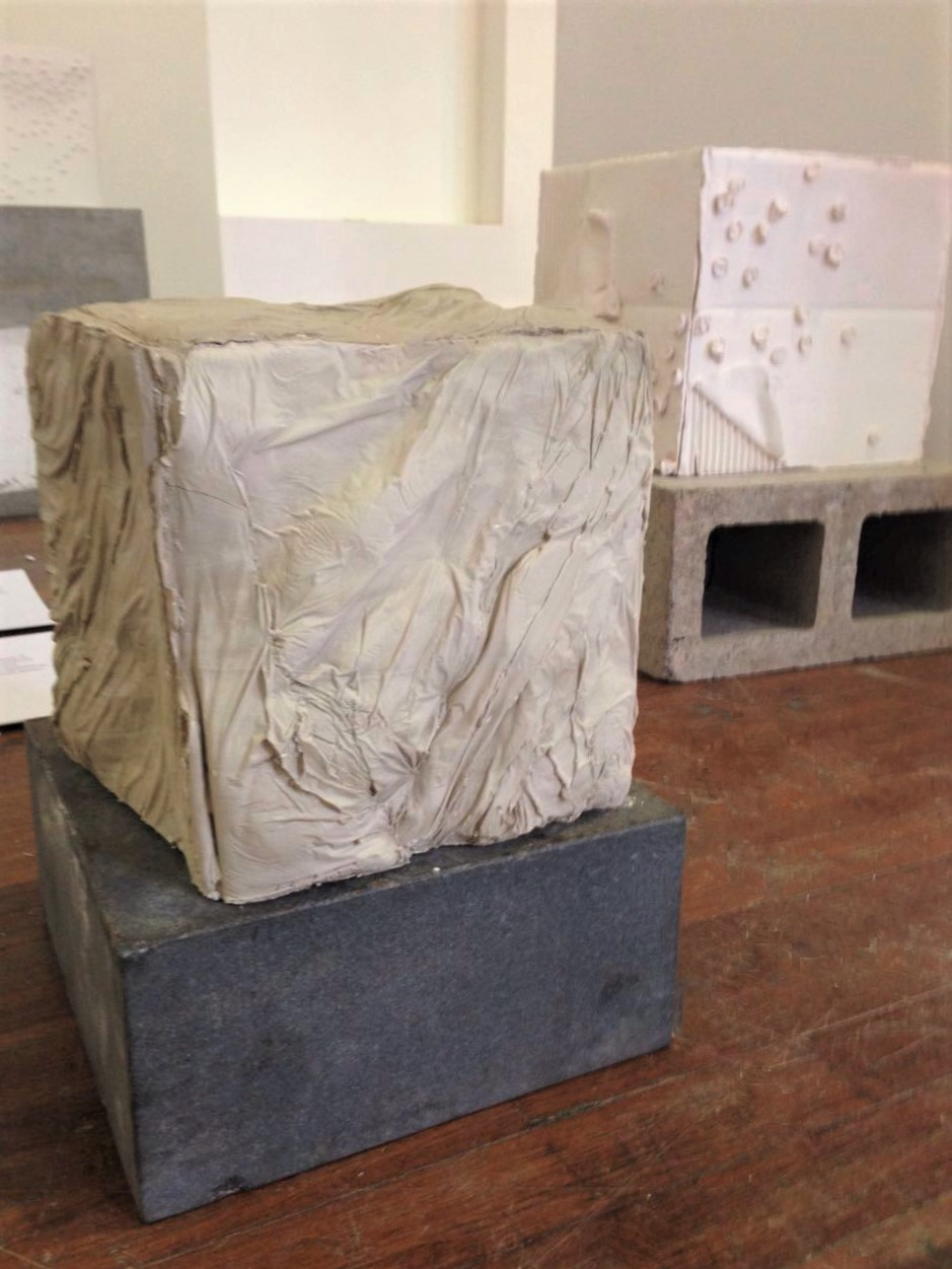 - Not your female artist archetype2016Fred and unfired stoneware clay, concrete blocks, stone