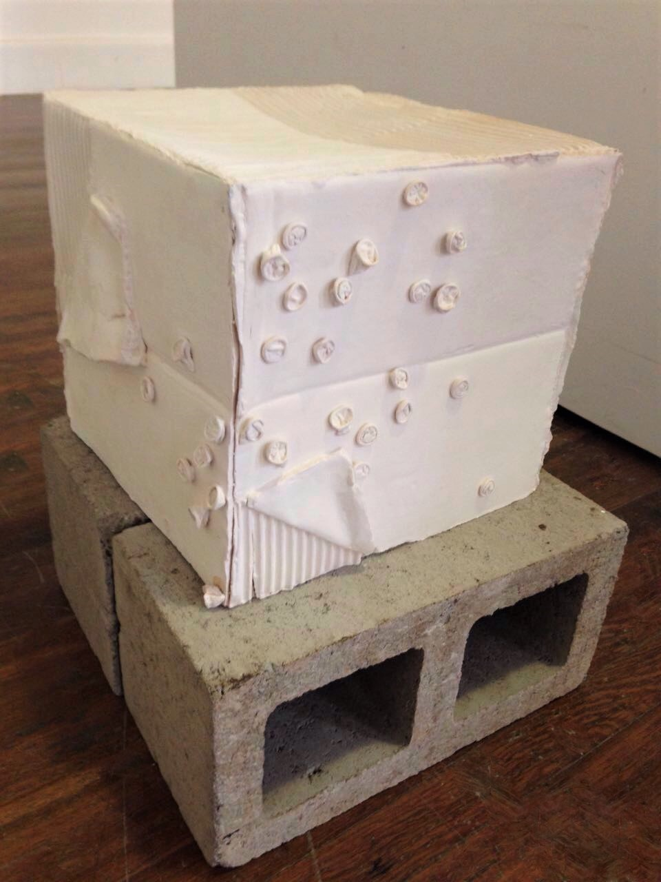 - Not your female artist archetype2016Fired and glazed stoneware clay, concrete blocks (Detail of front)