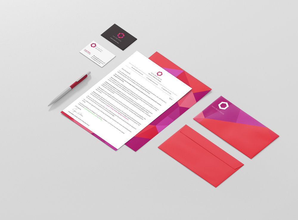 Brand identity - High Rose House