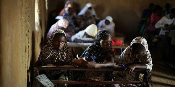 Des écolières à Gao, dans le nord du Mali, en 2013. © Jerome Delay/AP/SIPA