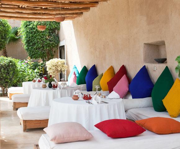 Yoga Explorers yoga retreat in Morocco - terrace