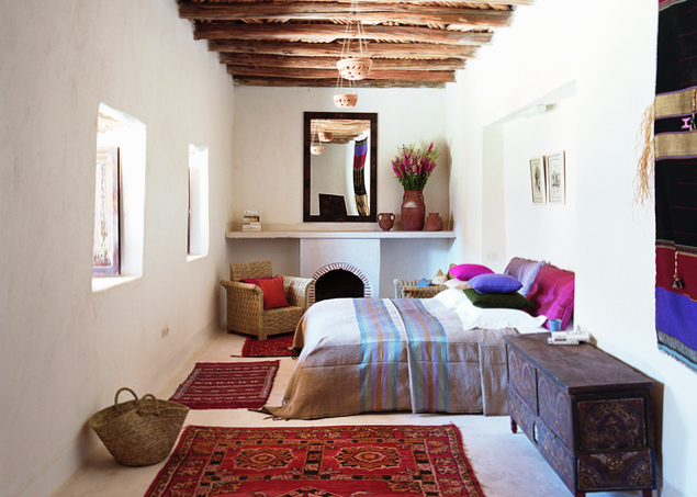 Yoga Explorers yoga retreat in Marrakech, Morocco - bedroom accomodation