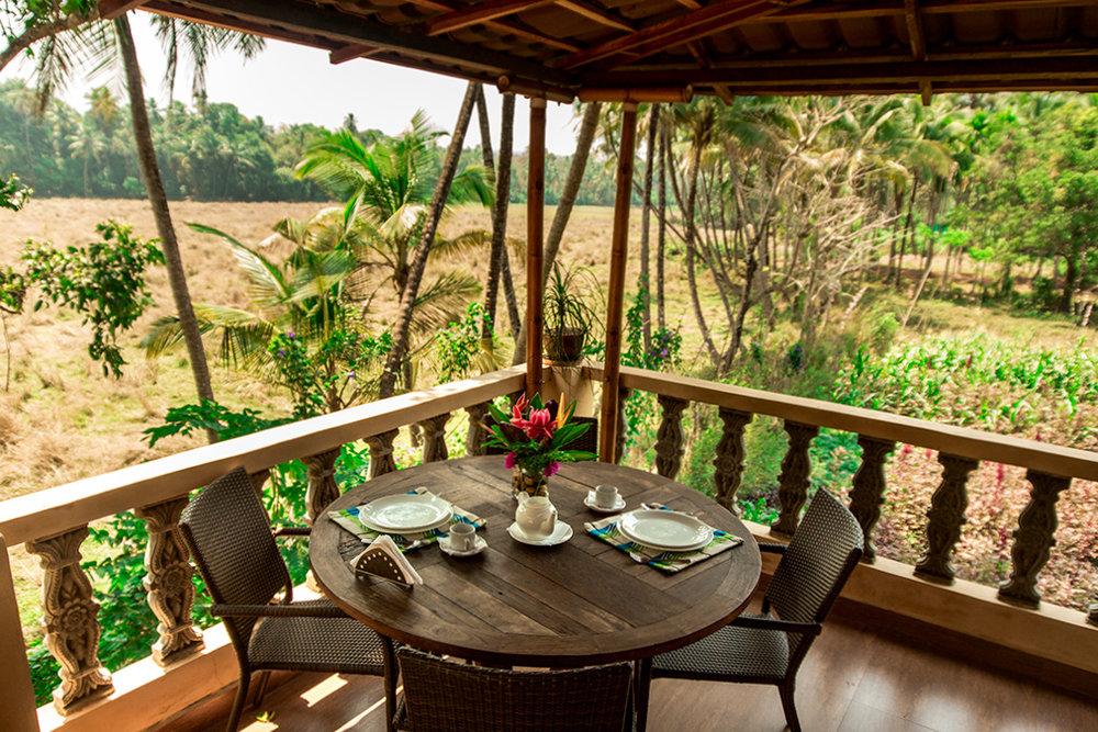 Yoga Explorers yoga retreat in North Goa - Terrace