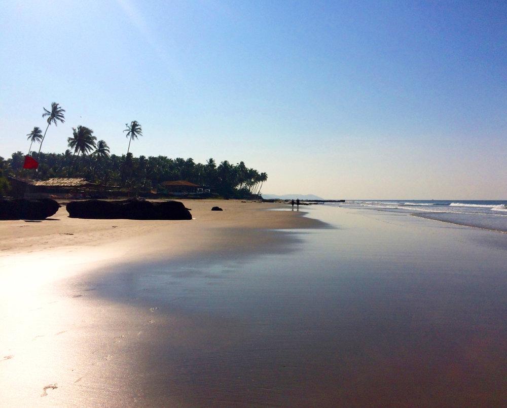Yoga Explorers yoga holiday in North Goa - Golden Beach