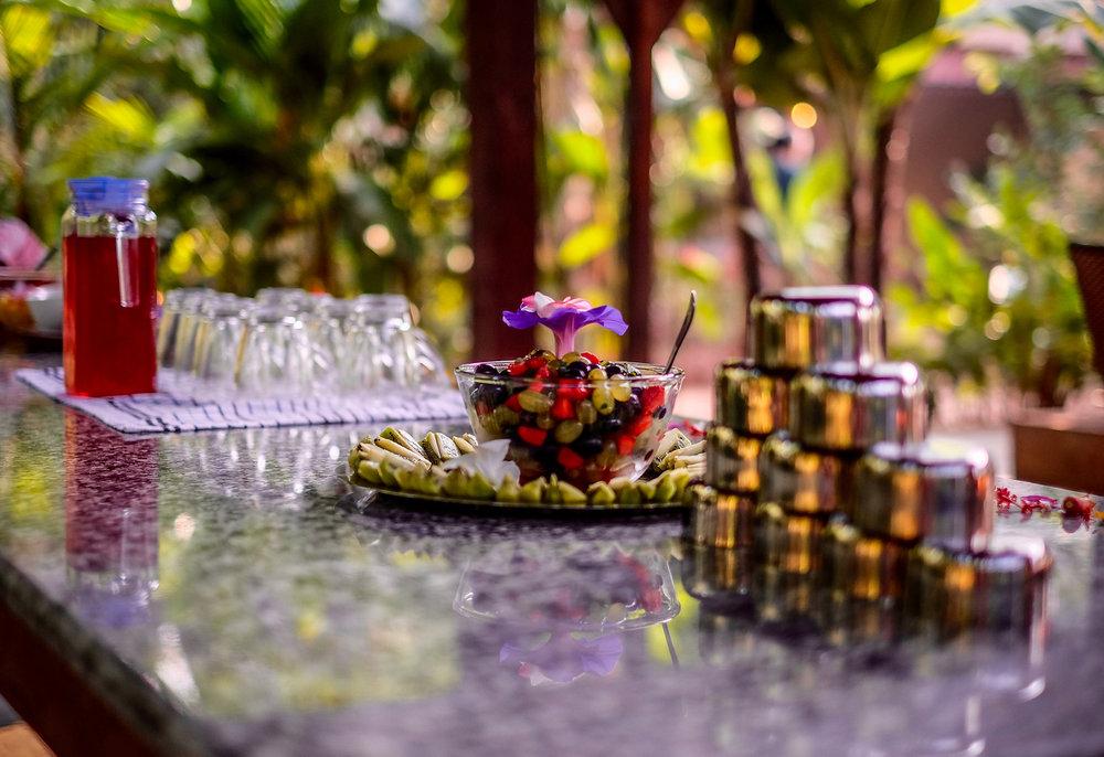 Yoga Explorers yoga retreat in North Goa - refreshing organic infusions