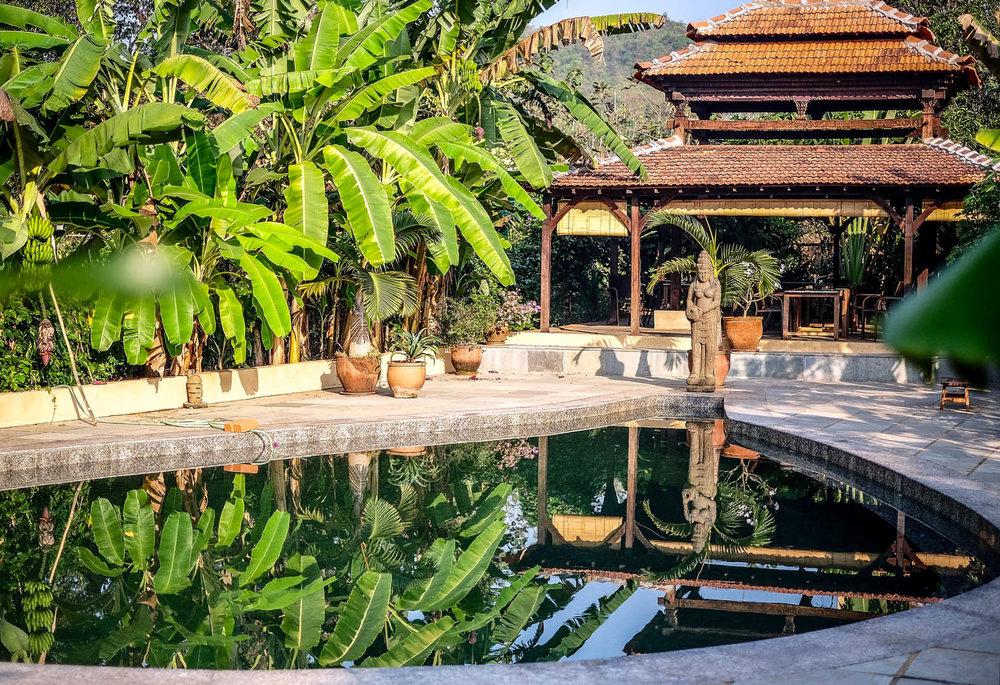 Yoga Explorers yoga holiday in North Goa - Pool