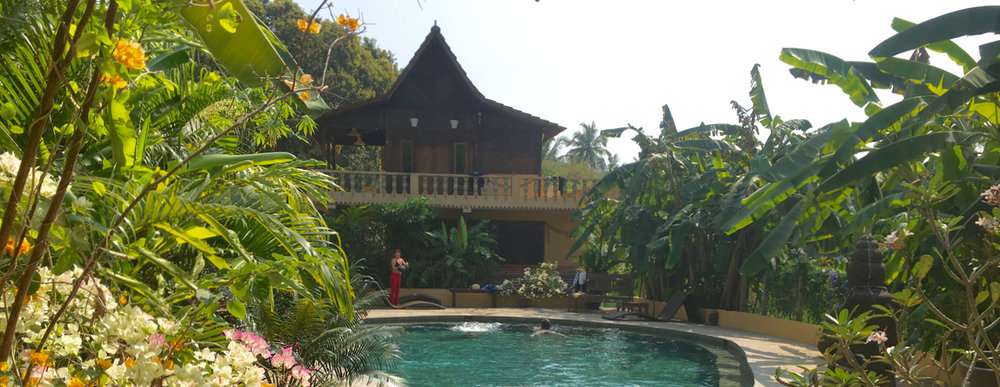 Yoga Explorers yoga retreat in North Goa - pool