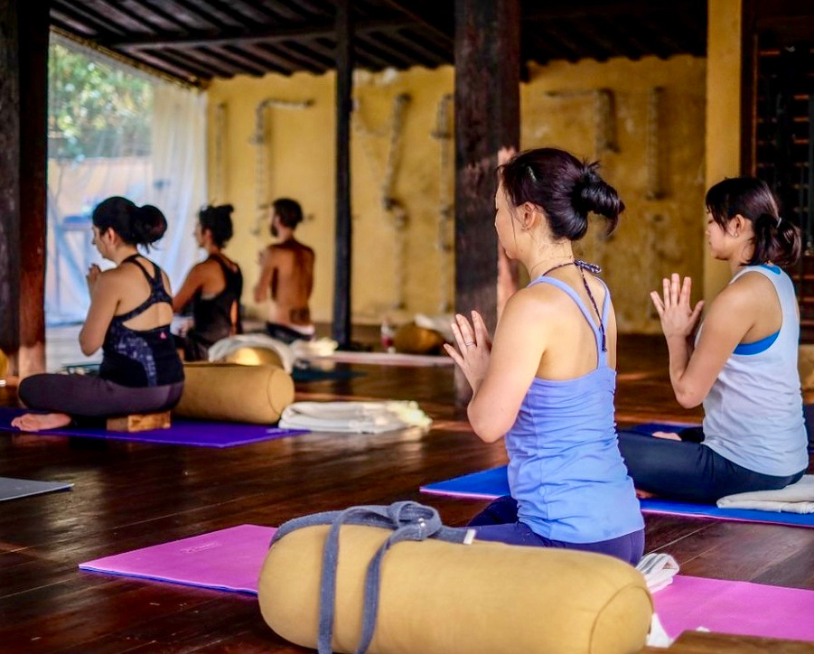 Yoga Explorers yoga holiday in North Goa - yoga and meditation