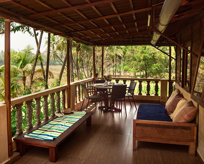 Yoga Explorers yoga holiday in North Goa - Terrace