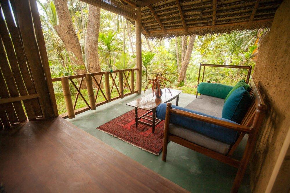 Yoga Explorers yoga retreat in Sri Lanka. Bamboo hut