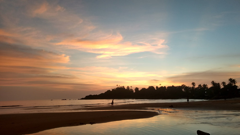 Yoga Explorers yoga retreat in South Goa - stunning beach setting