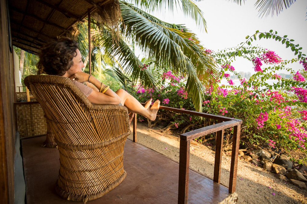 Yoga Explorers yoga retreat in South Goa - beautiful view from the private vernada