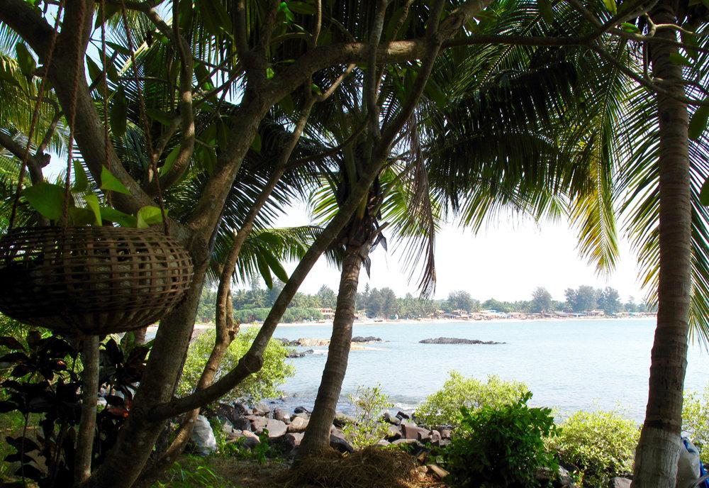 Yoga Explorers yoga holiday in South Goa - beautiful beachfront