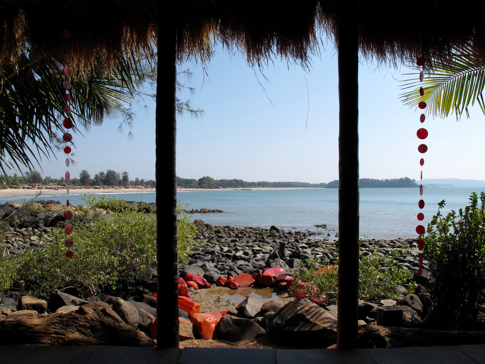 Yoga Explorers yoga retreat in South Goa - stunning sea view