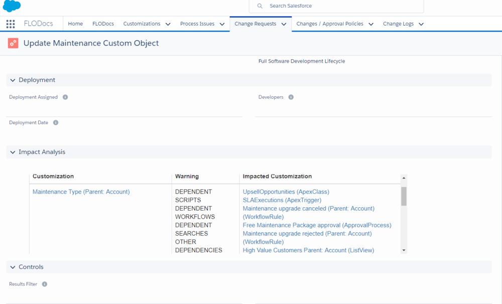 Change Impact Analysis for Salesforce Lightning
