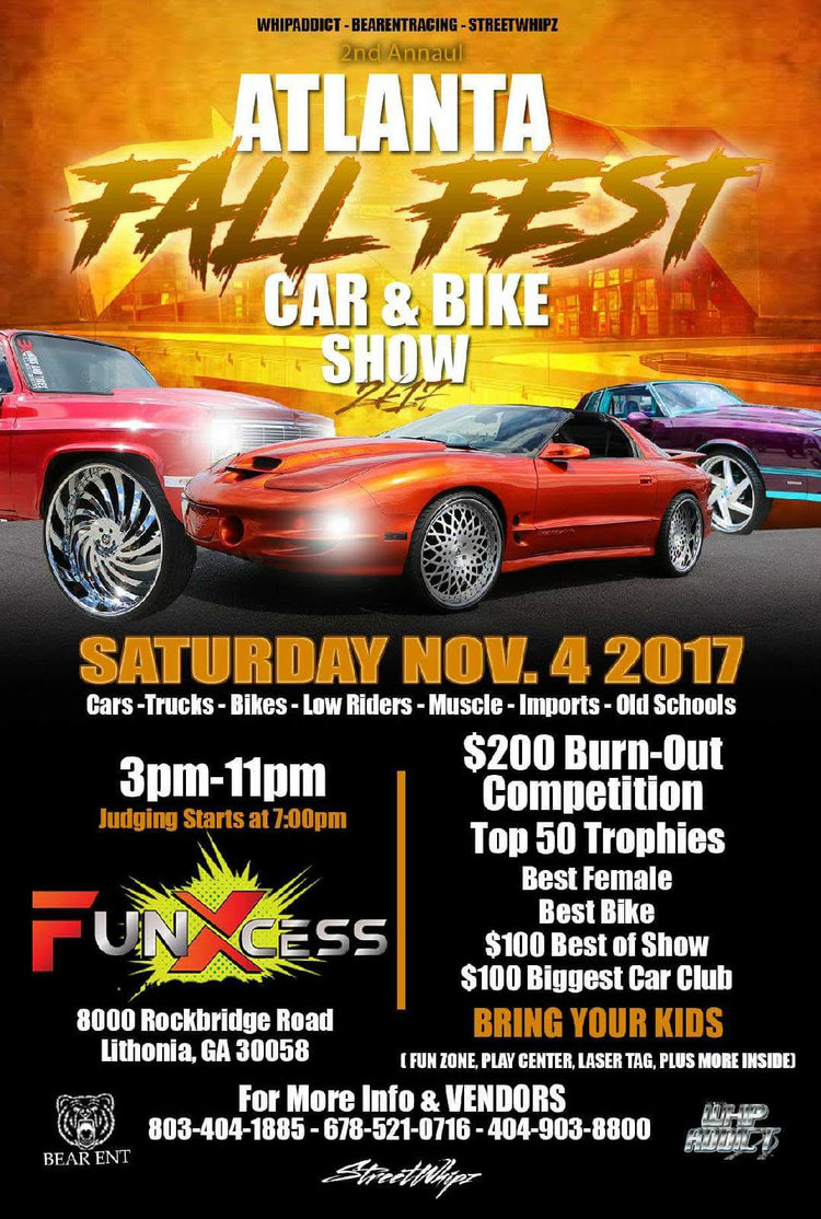 Atlanta Fall Fest Car Bike Show FunXcess Family Activities And - Car show games