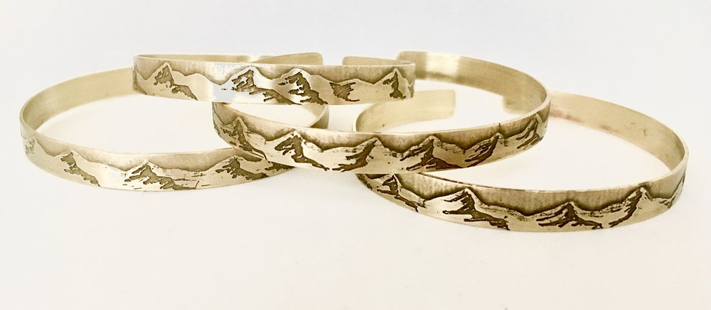 Mountain Range Etched Bracelets