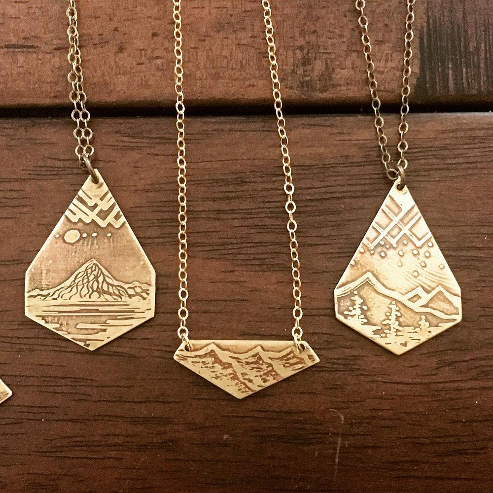 Art Deco Shaped Necklaces
