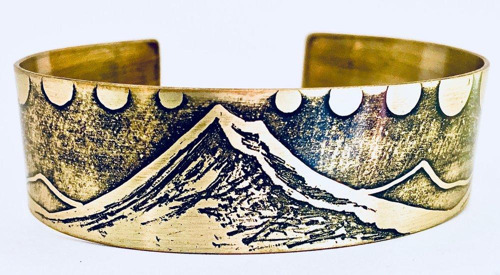 Large Mount Hood Etched Bracelet