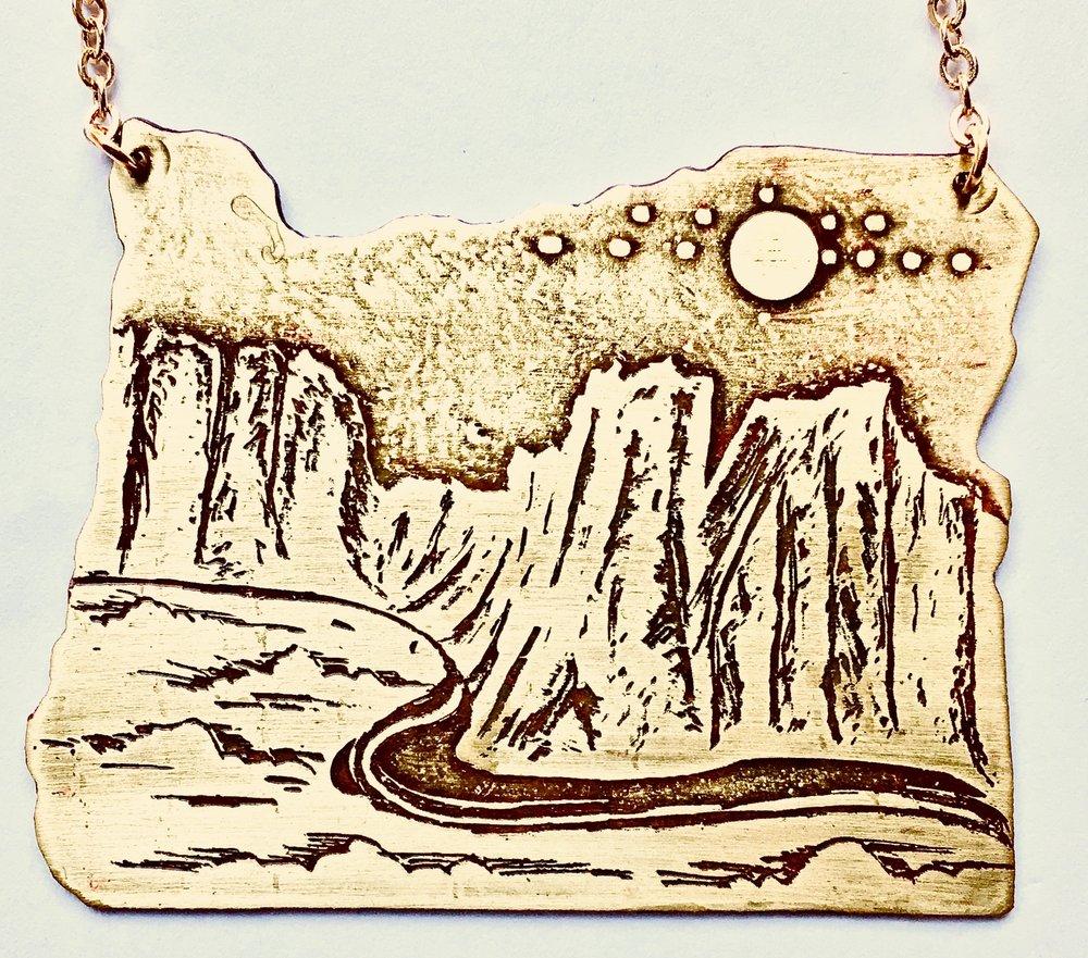Oregon Cutout Etched Smith Rock