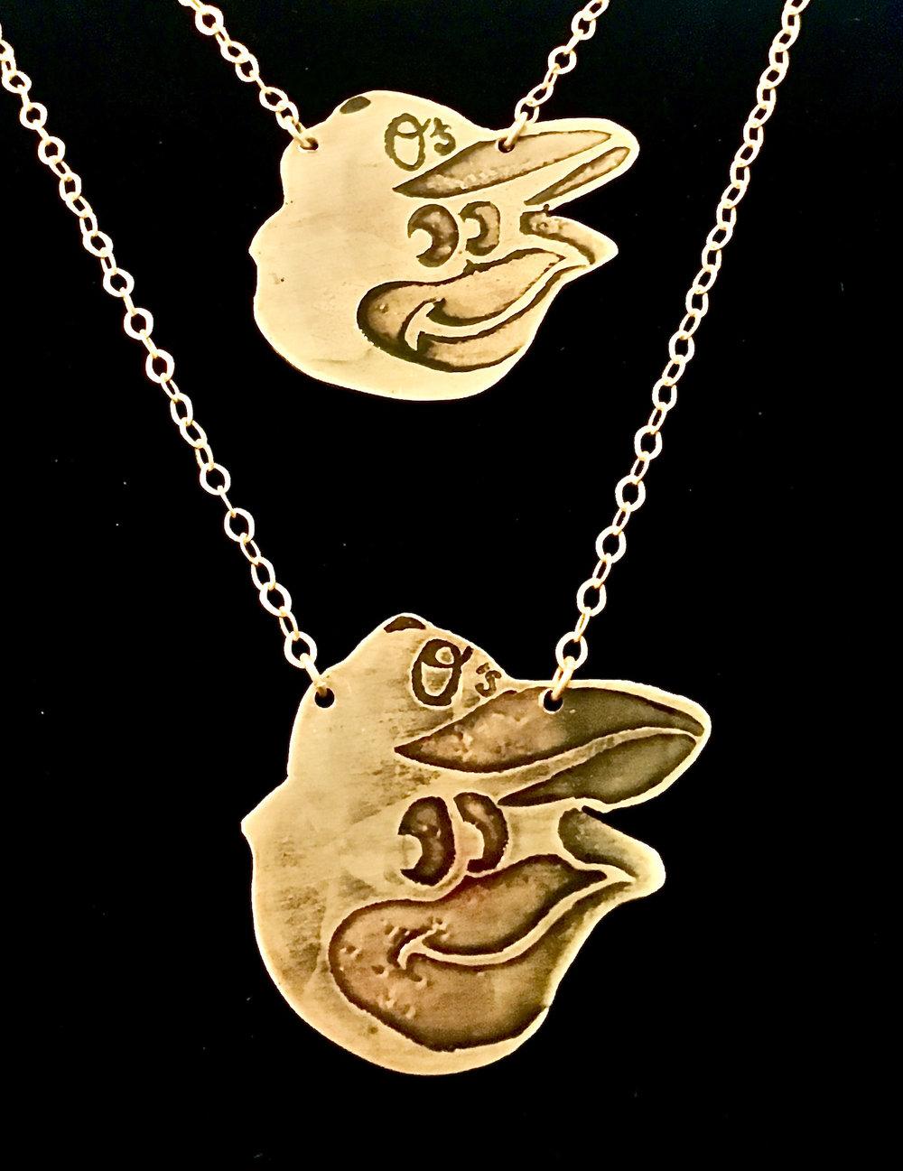 Baltimore Orioles Cutout Necklace