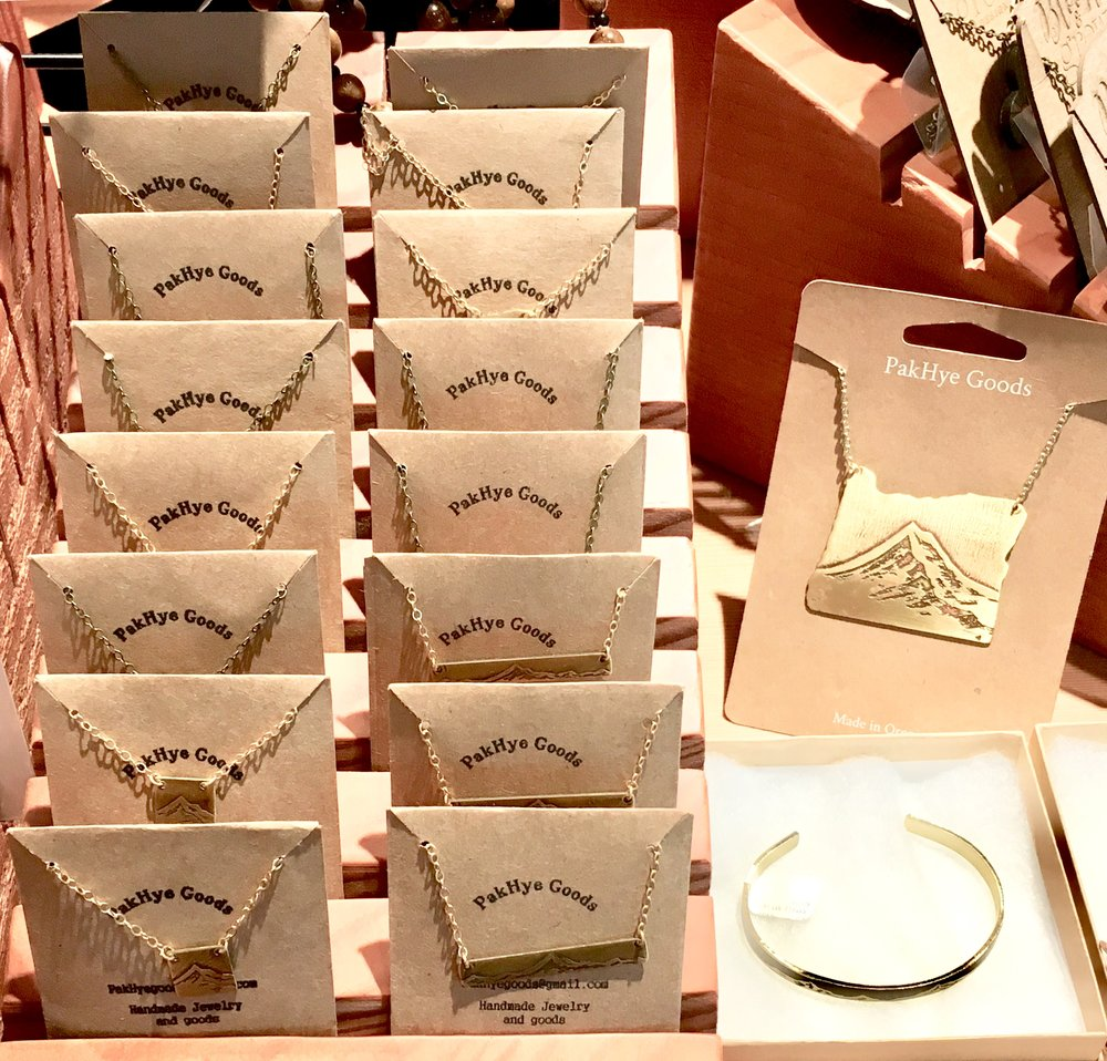 Jewelry for sale at Timberline Lodge PDX Airport