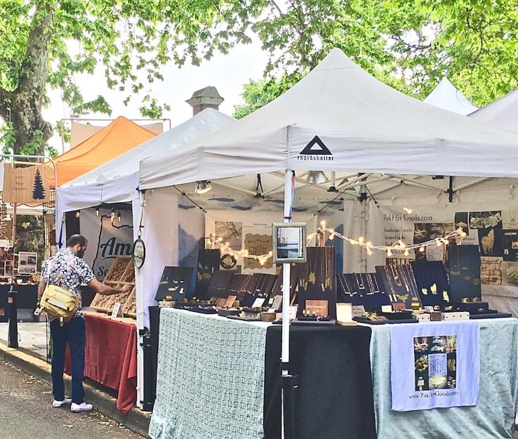 PakHye Goods Selling Handmade Jewelry at Portland Saturday Market