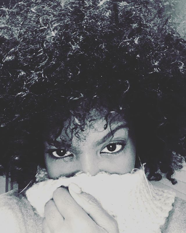 """My favorite #scarf and my natural hair... thanks for liking the natural me, and seeing my beauty. So much better when the """"regular you"""" is appreciated and adored... #beauty #naturalbeauty #natural #naturalcurls #afro #blackandwhitephoto #blackandwhite #harmony #backgroundvocals #bgvs #time #nofear #deedeefoster  #blackhair #eyes #love #light #cologne #europe #London #California #losangeles #triangle #future #spirit #universe #worldtour #ccworldtour2017 #cultureclub"""