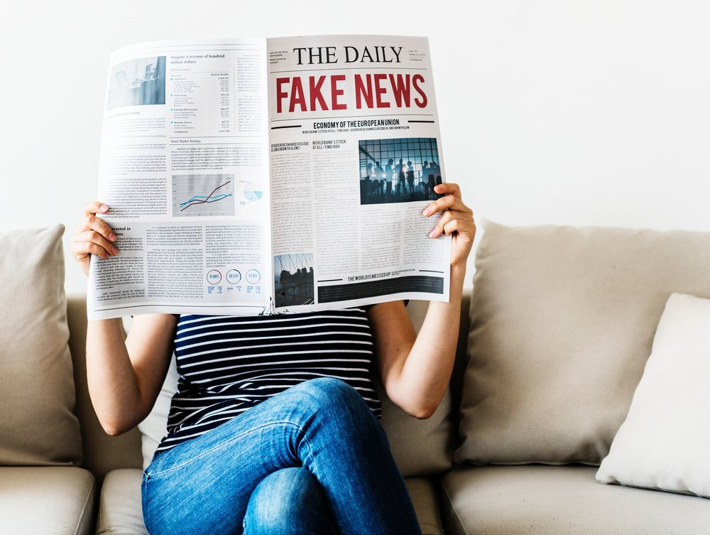 Fake news – can you tell what it is yet? Photo by  rawpixel .