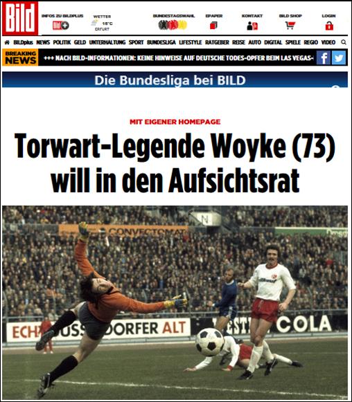 - Bild Zeitung (27. Sep 2017) - Torwart-Legende Woyke (73) will in den AufsichtsratLink: http://www.bild.de/sport/fussball/fortuna-duesseldorf/woyke-will-in-den-fortuna-aufsichtsrat-53353170.bild.html