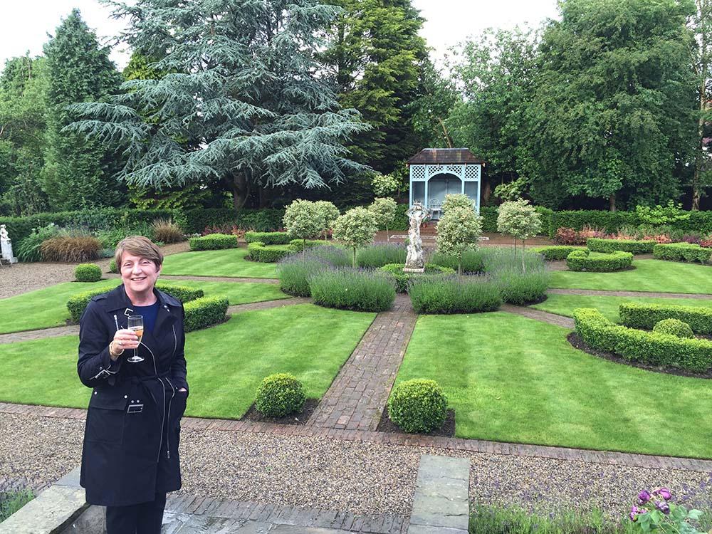 A classical parterre garden to a Victorian villa, Ilkley.