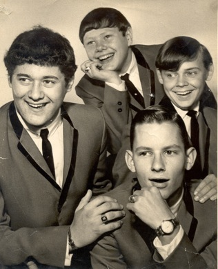 The Legends in the mid-'60s, from left: Dave Hartman, Dan Hartman, Ralph Schwartz, Denny Woolridge. Photo courtesy Dave Hartman.
