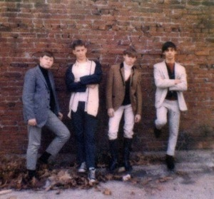 The Legends, mid-'60s: from left, Dan Hartman, Larry Swartzwelder, Ralph Schwartz, Denny Woolridge; Photo courtesy johnharris66.com