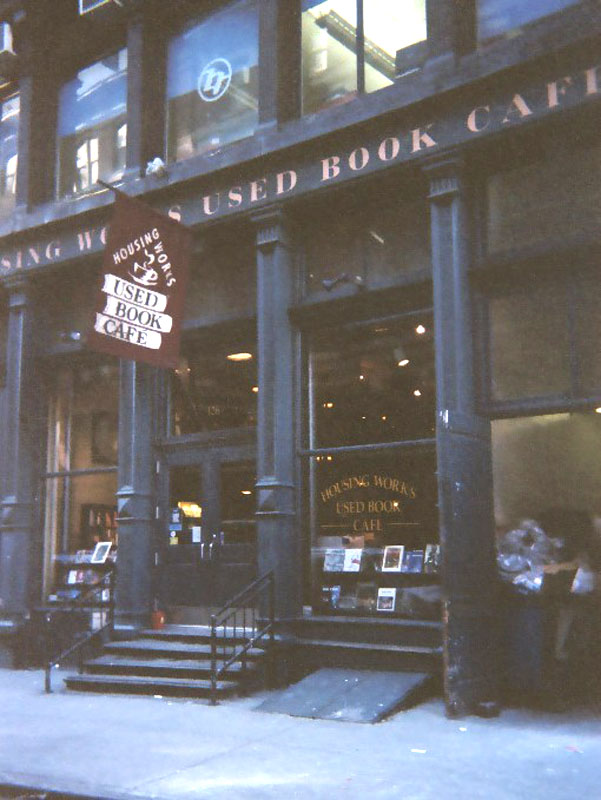 A favorite of everyone who visits: Housing Works Used Books Cafe in New York