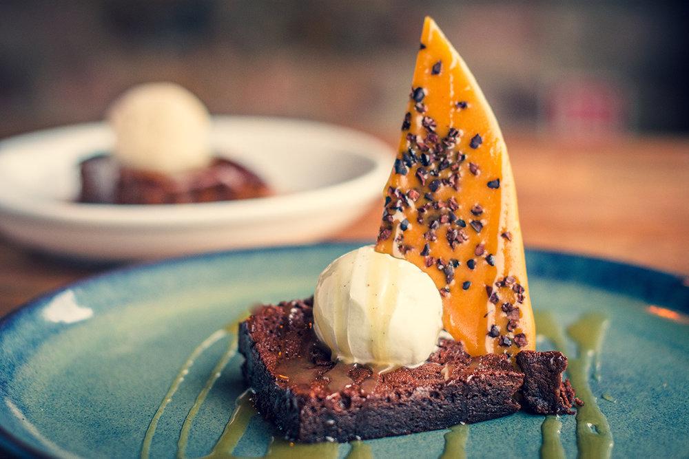 Gluten Free Brownie with Vegan Ice Cream