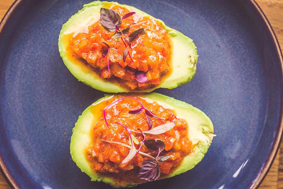 Vegan Stuffed Avocados