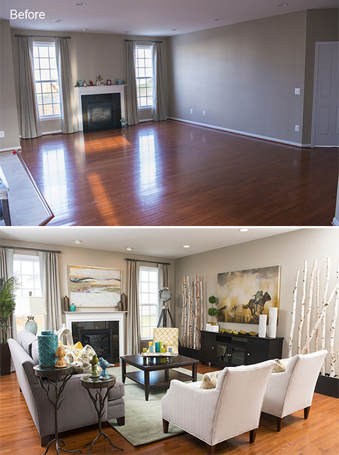 2013 Makeover before and after at Belfort Furniture