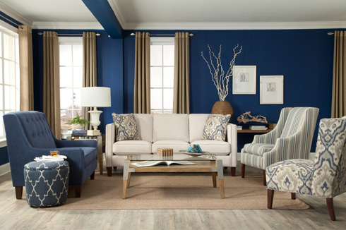 Blue Room at Belfort Furniture