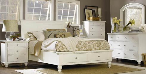 White Cambridge Bedroom at Belfort Furniture