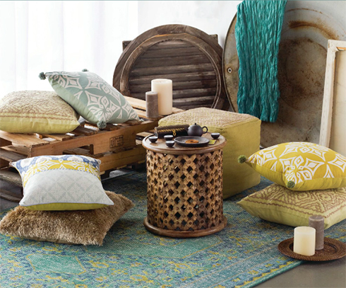 Cozy Basement with Surya items at Belfort