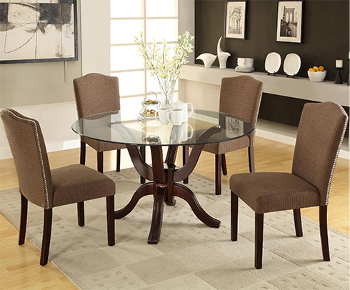 Medford-Round-Glass-Top-Dining-Table-Belfort-Furniture