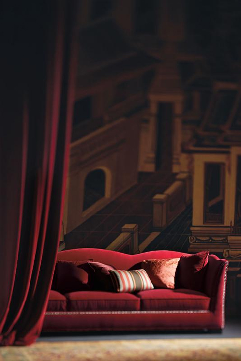Bernhardt Kirkland Red Sofa Belfort Furniture