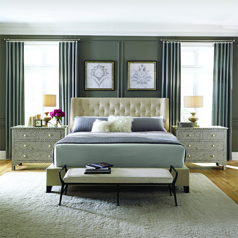 Bernhardt Maxime Upholstered Bed at Belfort Furniture