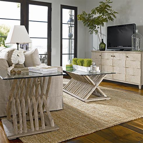 coastal living driftwood living room at belfort furniture